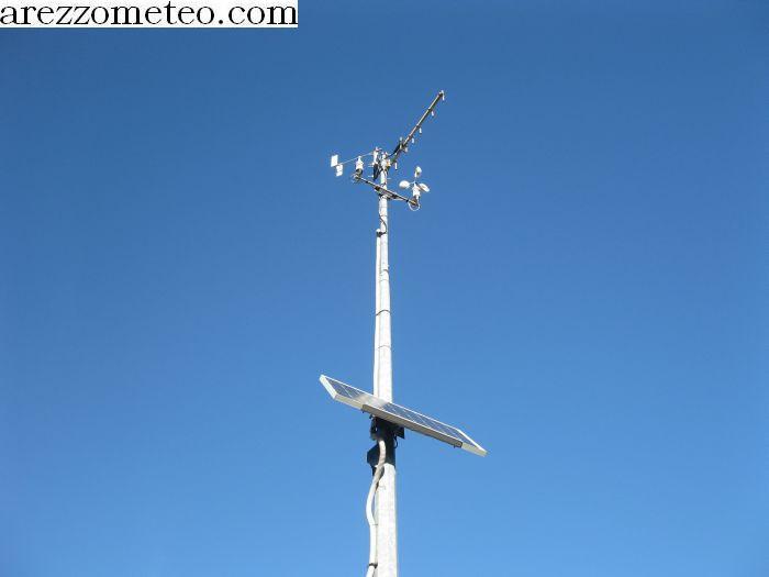 Pannello Solare Per Anemometro Oregon : Arezzo meteo stazione di stia monte