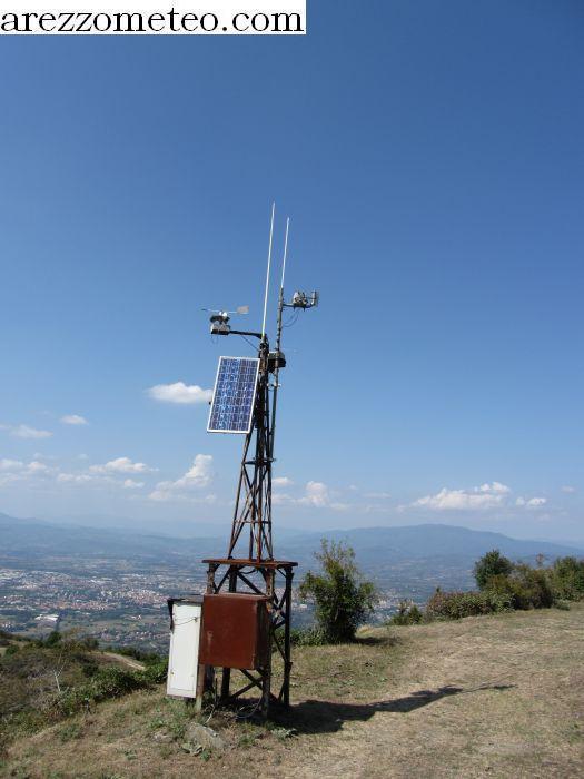 Pannello Solare Per Anemometro Oregon : Arezzo meteo anemometro sul monte lignano