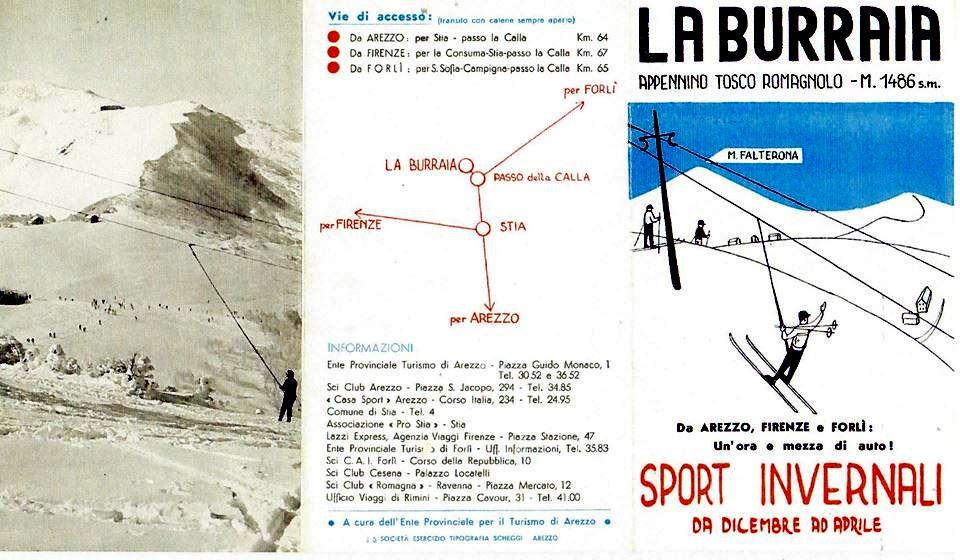 locandina burraia monte gabrendo anni 60