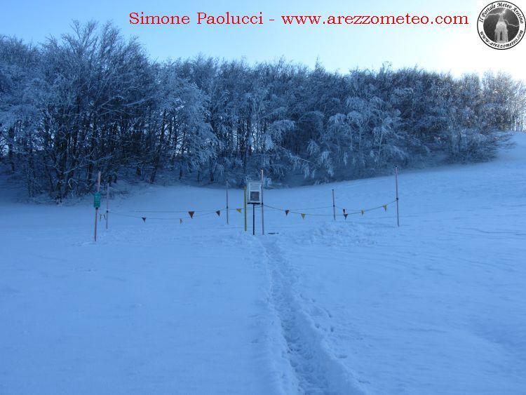 Rilevamento ufficiale neve Monte Fumaiolo 1