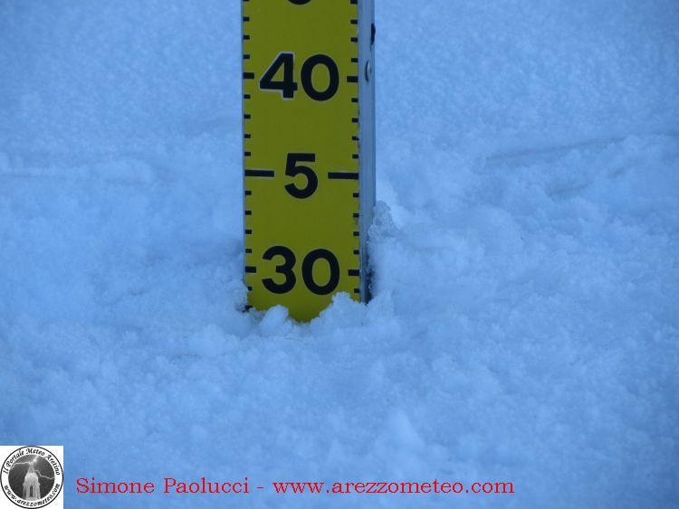 Rilevamento ufficiale neve Monte Fumaiolo 3