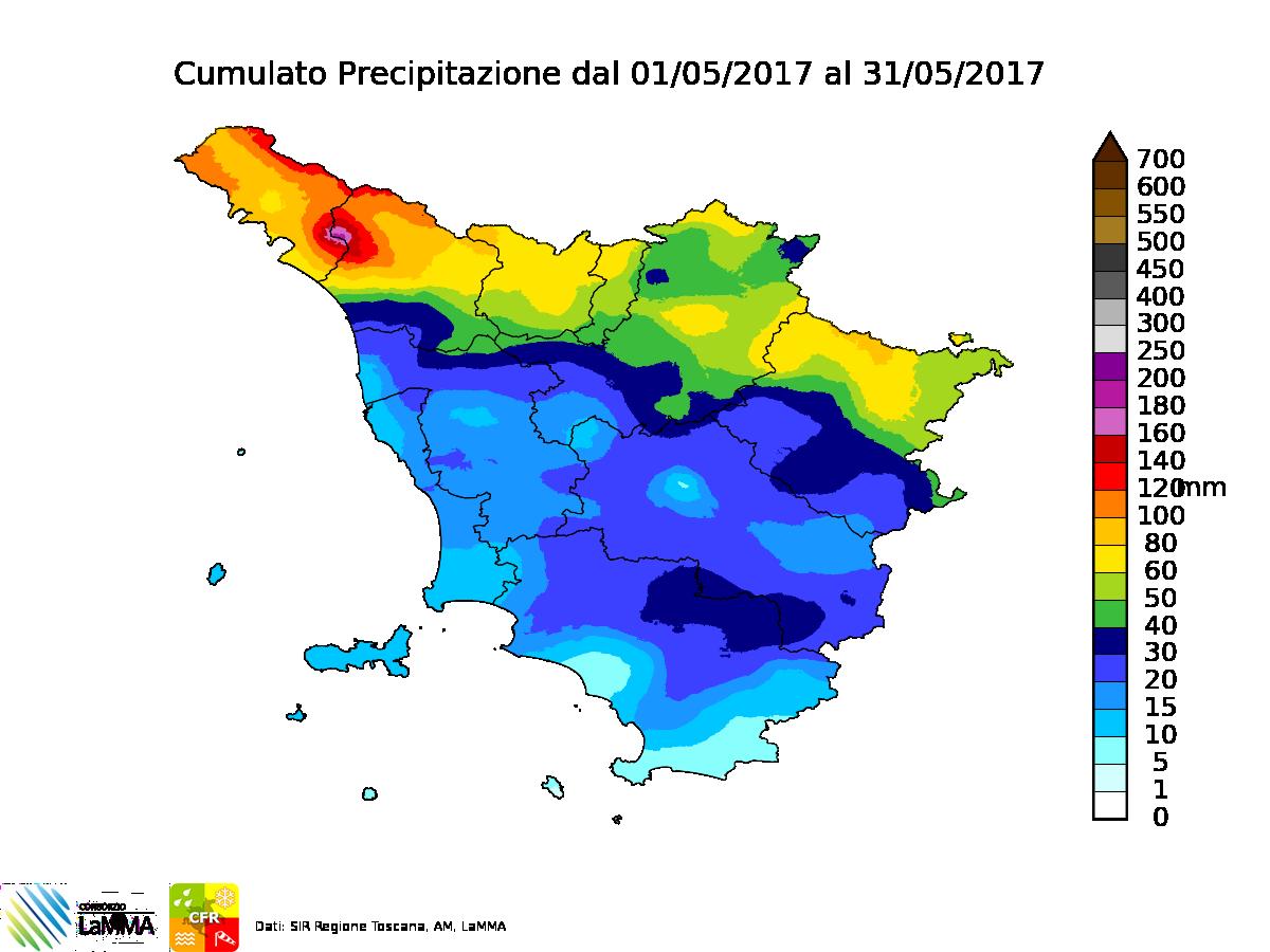 piogge maggio 2017 Toscana